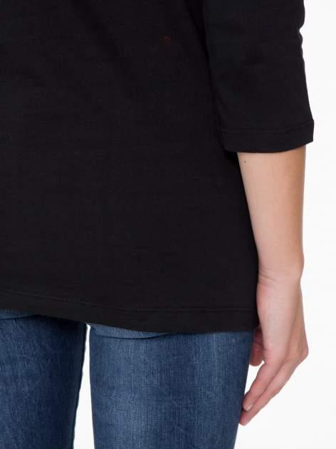 Czarna bluzka z nadrukiem loga Instagrama                                  zdj.                                  9