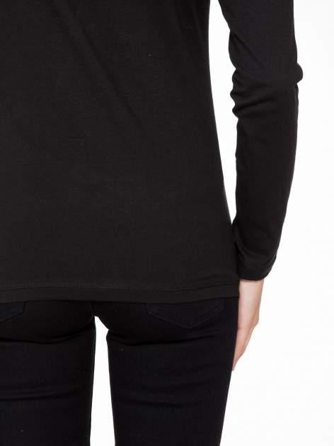 Czarna bluzka z nadrukiem pandy                                  zdj.                                  9