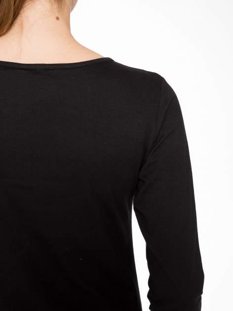 Czarna bluzka z nadrukiem pandy                                  zdj.                                  8