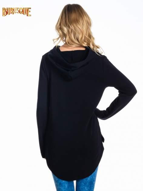 Czarna damska bluza z kapturem i napisem ART                                  zdj.                                  4