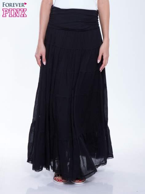 Czarna długa spódnica maxi w stylu boho                                  zdj.                                  1