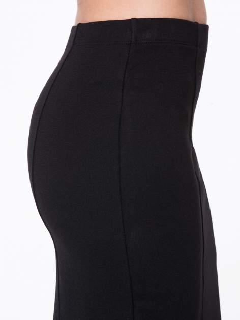 Czarna długa spódnica maxi z tiulowymi wstawkami na dole                                  zdj.                                  8