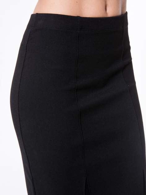 Czarna długa spódnica maxi z tiulowymi wstawkami na dole                                  zdj.                                  9