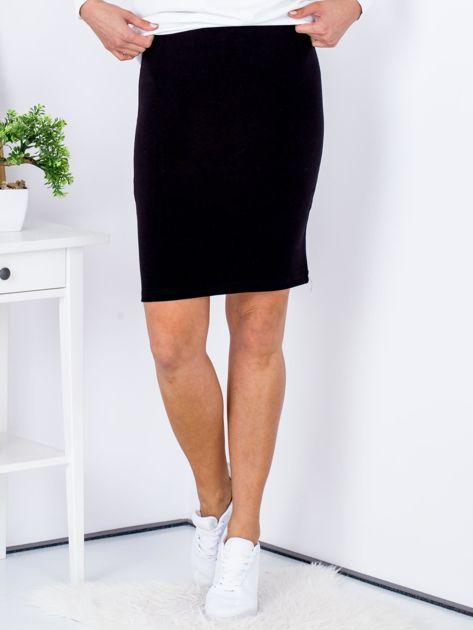 Czarna dopasowana spódnica                               zdj.                              1