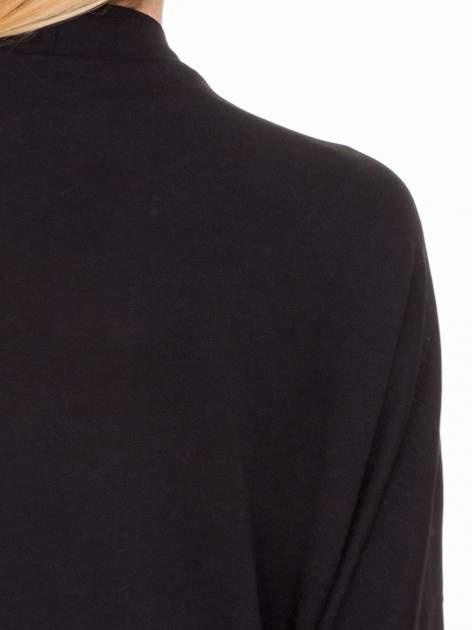 Czarna dresowa otwarta bluza z nietoperzowymi rękawami                                  zdj.                                  8