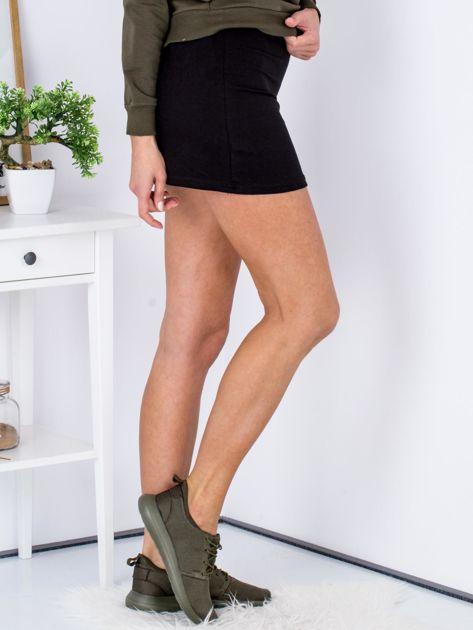 Czarna dresowa spódnica mini                              zdj.                              3