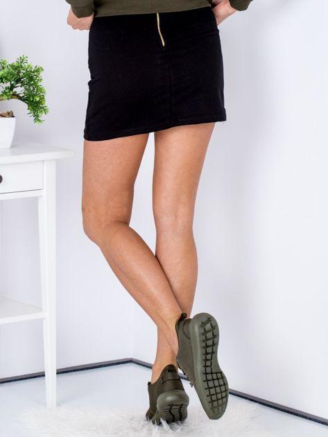 Czarna dresowa spódnica mini                              zdj.                              2