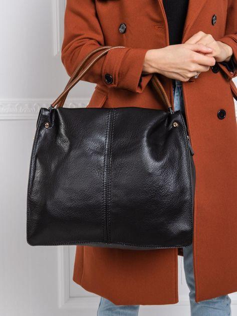 Czarna duża torba city bag