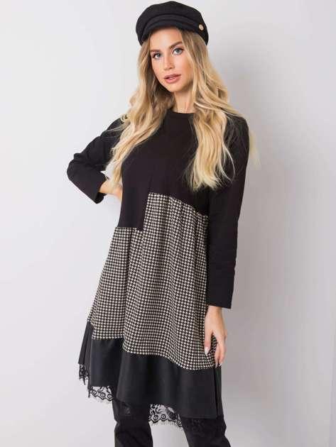 Czarna-ecru sukienka Willow