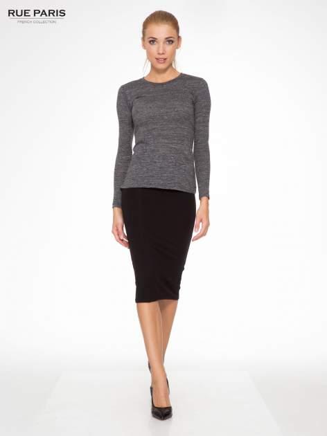 Czarna elegancka spódnica ołówkowa do kolan                                  zdj.                                  2