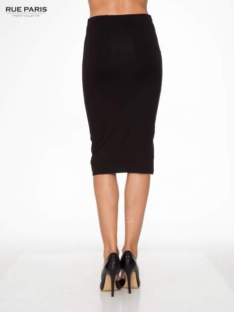 Czarna elegancka spódnica ołówkowa do kolan                                  zdj.                                  4