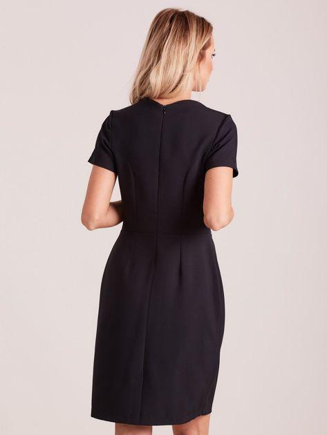Czarna elegancka sukienka                               zdj.                              2