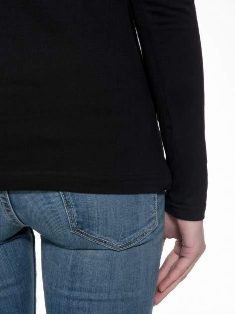 Czarna gładka bluzka z reglanowymi rękawami                                  zdj.                                  8