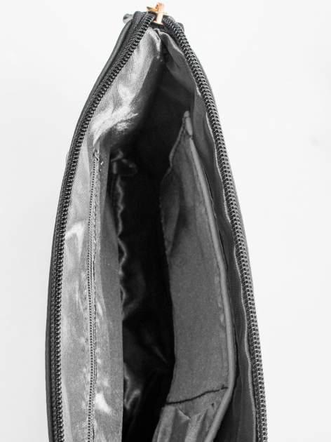 Czarna kopertówka z dżetami motyw ust                                  zdj.                                  8