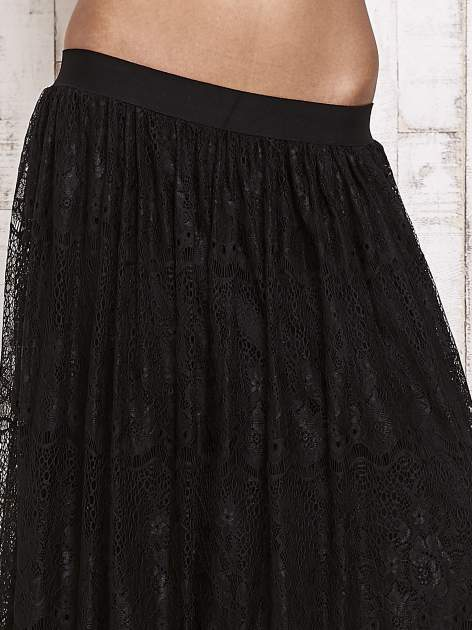 Czarna koronkowa spódnica maxi                                  zdj.                                  4