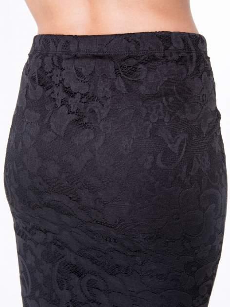 Czarna koronkowa spódnica typu tuba za  kolano                                  zdj.                                  6