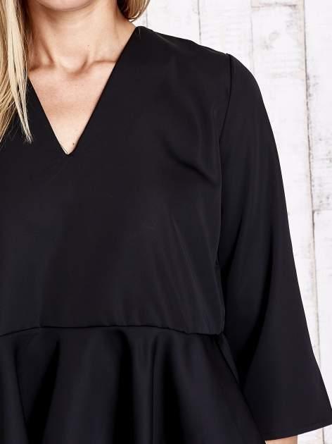 Czarna koszula z baskinką                                  zdj.                                  6