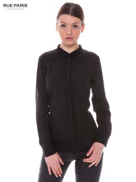 Czarna koszula z siateczkowym tyłem