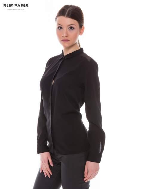 Czarna koszula z siateczkowym tyłem                                  zdj.                                  3
