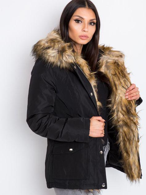 Czarna kurtka Winter                              zdj.                              3