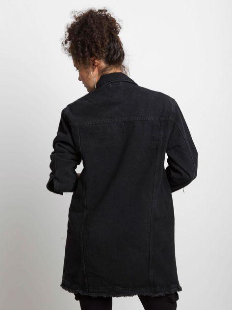 Czarna kurtka jeansowa Source                              zdj.                              2