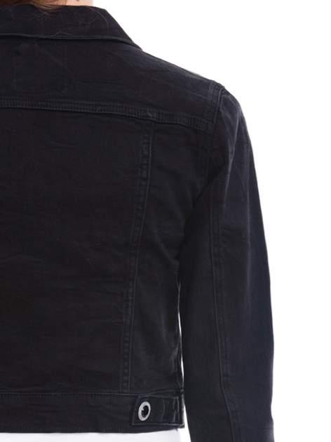 Czarna kurtka jeansowa damska z ozdobnymi guzikami                                  zdj.                                  7