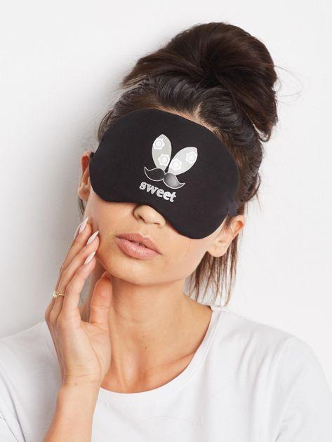 Czarna maska do spania na oczy                              zdj.                              1