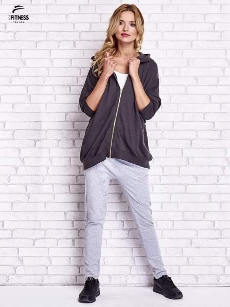 Czarna melanżowa bluza oversize                                  zdj.                                  7
