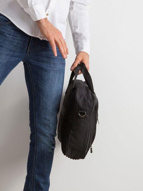 Czarna męska torba na laptopa                              zdj.                              3