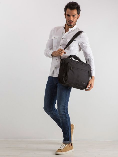 Czarna męska torba na laptopa                              zdj.                              4