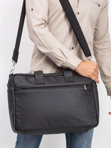 Czarna męska torba ze skóry naturalnej                              zdj.                              2