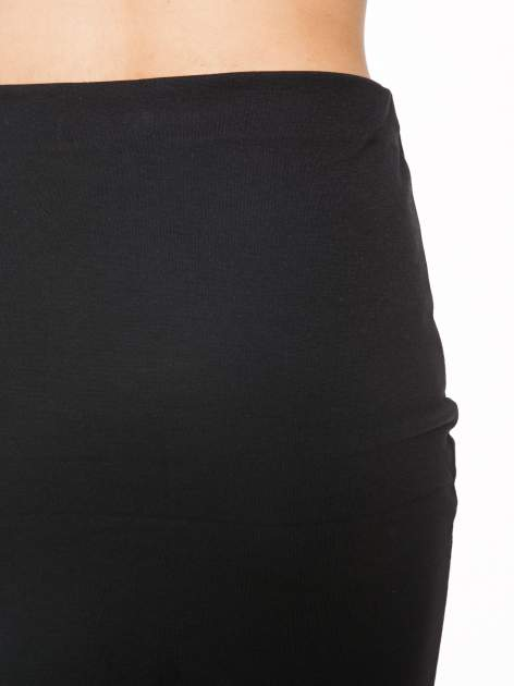 Czarna mini spódnica kopertowa                                  zdj.                                  6
