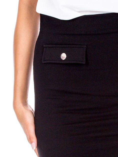 Czarna ołówkowa spódnica z suwakiem                               zdj.                              6