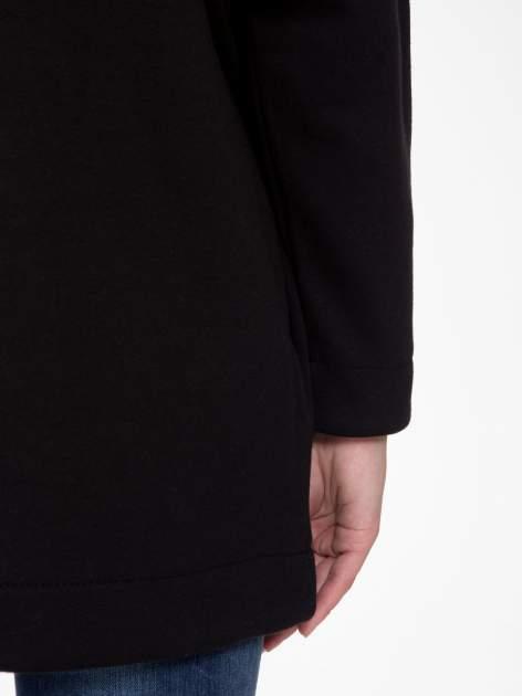 Czarna otwarta bluza dresowa                                  zdj.                                  9
