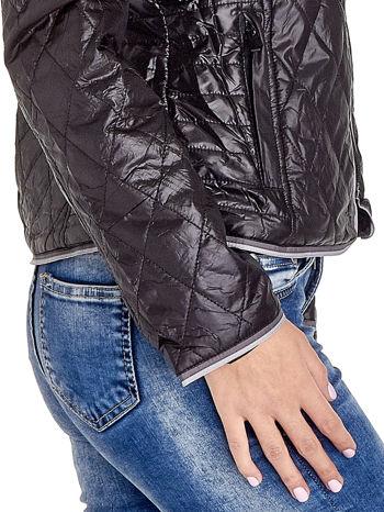 Czarna pikowana kurtka typu husky                                  zdj.                                  7