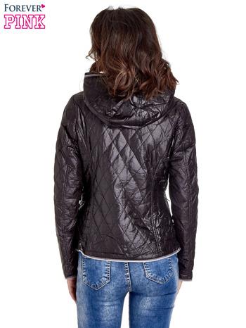 Czarna pikowana kurtka typu husky                                  zdj.                                  4