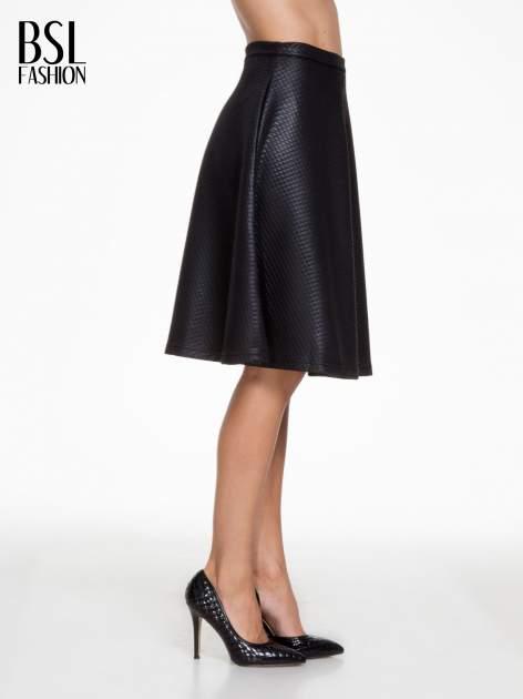 Czarna pikowana spódnica midi                                  zdj.                                  3