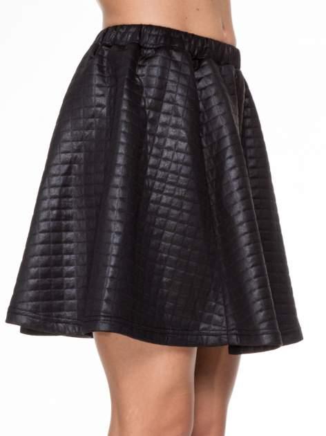 Czarna pikowana spódnica szyta z półkola                                  zdj.                                  5