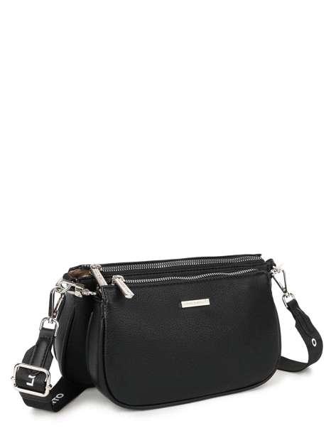 Czarna podwójna torebka LUIGISANTO