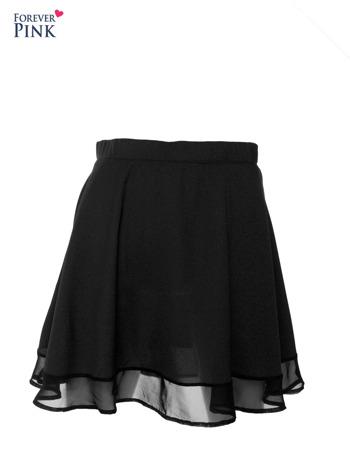 Czarna rozkloszowana spódnica mgiełka                                  zdj.                                  1