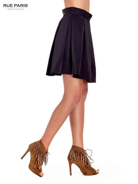 Czarna rozkloszowana spódnica z kontrafałdami                                  zdj.                                  3