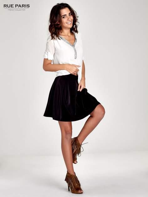 Czarna rozkloszowana spódnica z kontrafałdami                                  zdj.                                  8