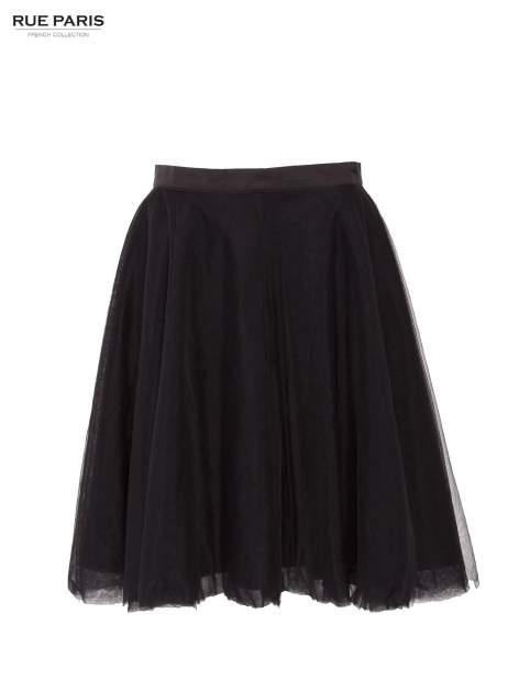 Czarna rozkloszowana tiulowa spódnica