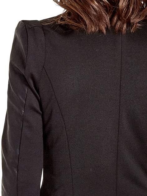 Czarna skórzana kurtka z zamkami                                  zdj.                                  6
