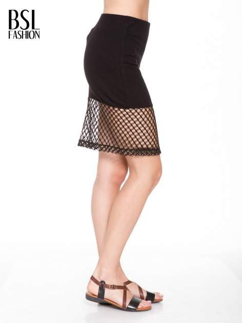 Czarna spódnica do kolan z siatki                                  zdj.                                  2