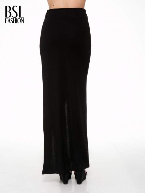 Czarna spódnica maxi z asymetrycznym zamkiem                                  zdj.                                  4