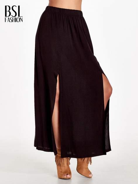 Czarna spódnica maxi z rozporkami                                  zdj.                                  1