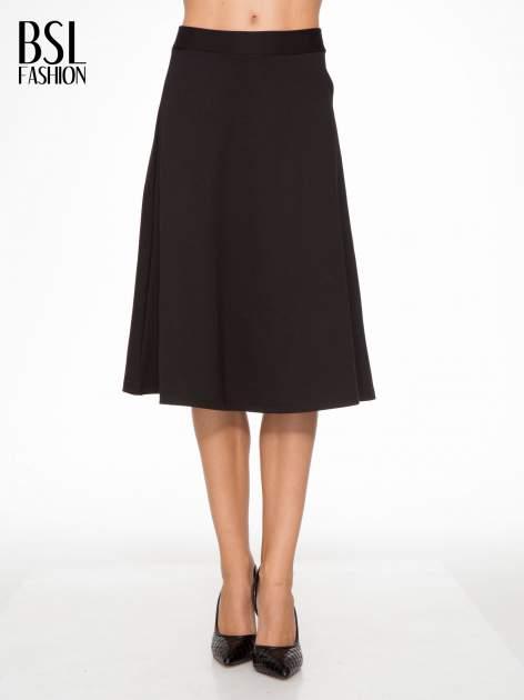 Czarna spódnica midi w kształcie litery A                                  zdj.                                  1