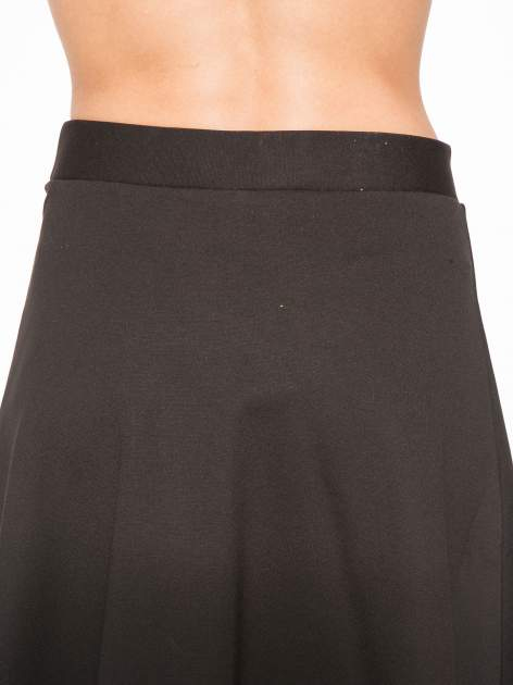 Czarna spódnica midi w kształcie litery A                                  zdj.                                  6