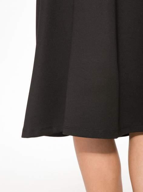 Czarna spódnica midi w kształcie litery A                                  zdj.                                  8